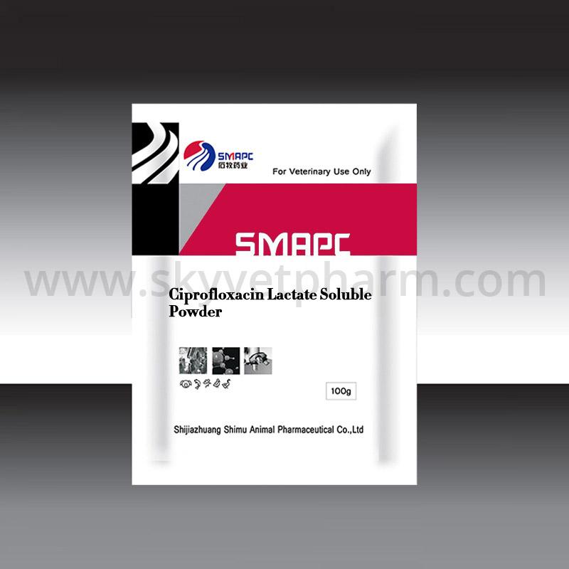 Ciprofloxacin lactate soluble powder