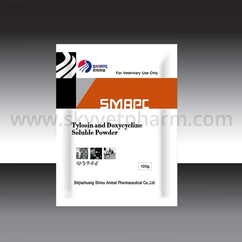 Tylosin and doxycycline soluble powder
