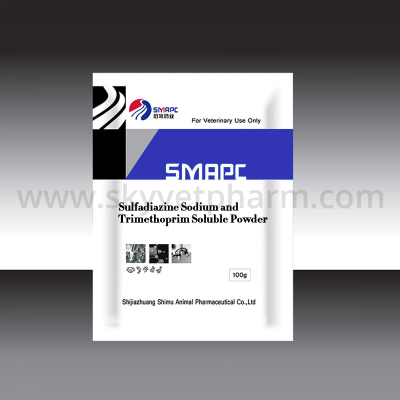 Sulfadiazine sodium and trimethoprim soluble powder