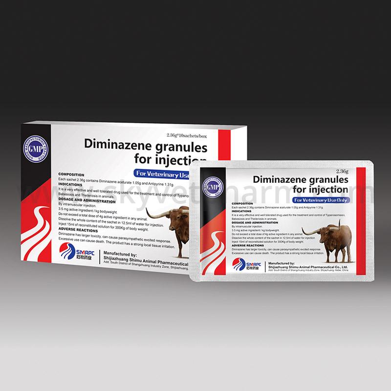Diminazene granules for injection
